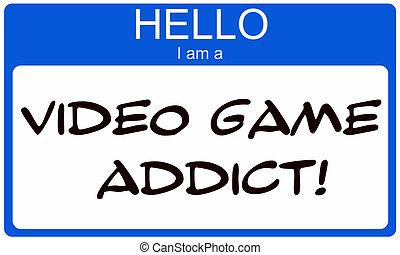 spel, video, verslaafde, hallo