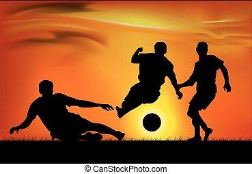 spel, voetbal