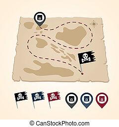 spelden, arrangering, pictogram