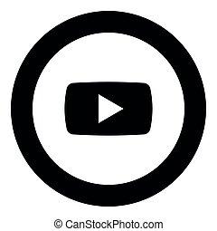 spelen kleur, knoop, zwarte cirkel, ronde, pictogram