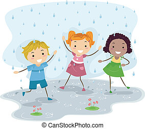 spelend, regen