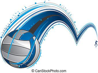 spelende volleyball