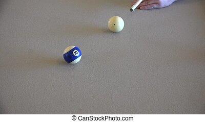 speler, biljart, sluiten tafel aan