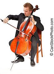 speler, cello