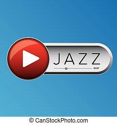 speler, knoop, vector, muziek