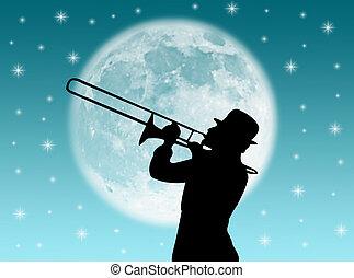 speler, trompet