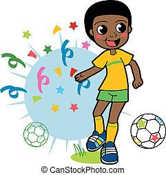 speler, voetbal, afrikaan