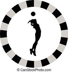 speler, vrouw, volleybal