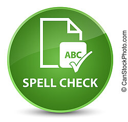 Spell check document elegant soft green round button