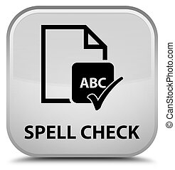 Spell check document special white square button