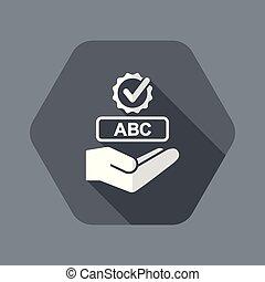 Spell check service icon