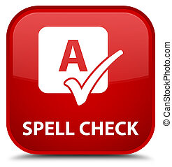 Spell check special red square button