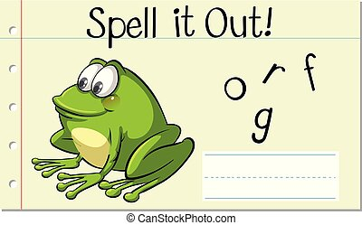 Spell English word frog