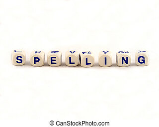 Spelling Blocks - Spelling blocks on a white background