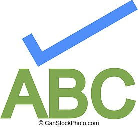 Spelling - Check, spell, spelling icon vector image.Can also...
