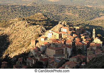 Speloncatu, Balagne, Corsica - The mountain village of ...