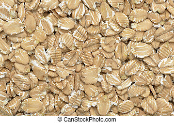 Close-up of spelt flakes for a breakfast