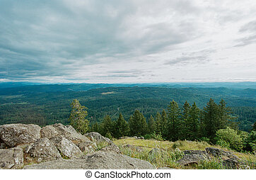 Spencers Butte Eugene Oregon Summit - Scenic view from the...