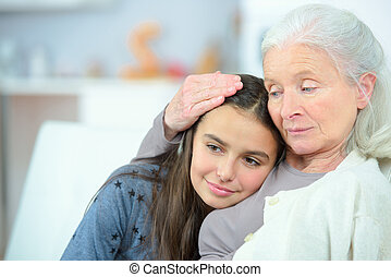 spendere, tempo, nonna