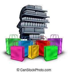 Spending Concept - Spending concept consumerism and material...