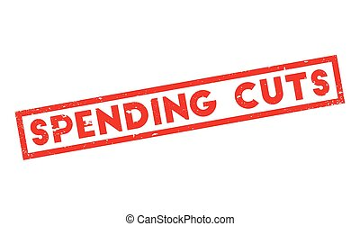 Spending Cuts rubber stamp