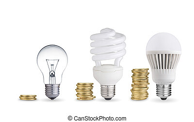 Spending money - Money saved in different kinds of light ...