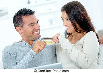 Spending money on-line