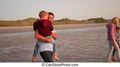 Spending Quality Time Together - Slow motion, side view, of...