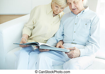 Spending time together - Portrait of a candid senior couple...