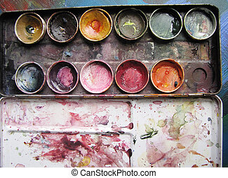 spent paintbox