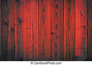 spento, dipinto, sbucciatura, struttura, legno, fondo, assi, rosso