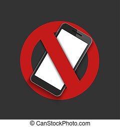 spento, moderno, -, segno, turno, vettore, telefono.