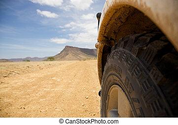 spento, namibia, strada