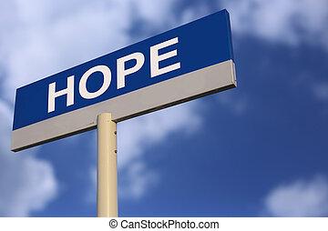 speranza, segno strada