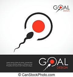 Sperm bank medical logo