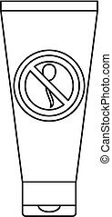 Spermicide tube icon, outline style