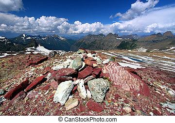 Sperry Glacier Scenery - Montana - Magnificent scenery near...