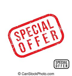Spesial Offer - rubber stamp with grunge texture design