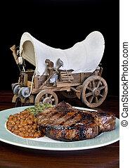 spesso, carne di maiale, chops.