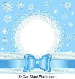 spets, snöflingor, bog, illustration, jul, vektor, bakgrund, cirkel, vit