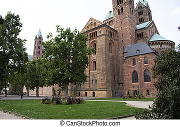 Speyer Cathedral at Speyer town in Rhineland Palatinate,...