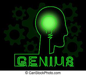 spezialist, guru, gehirn, genie, bedeutung, lösen