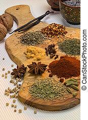 spezie, cottura, usato