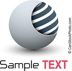 sphère, 3d, business, logo