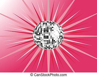 sphère, argent, disco