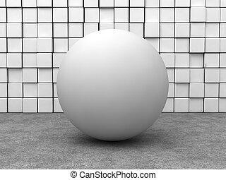 sphère, blanc