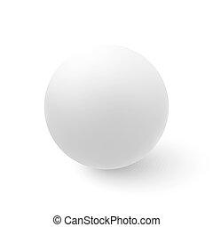 sphère, blanc, vecteur, isolé, fond