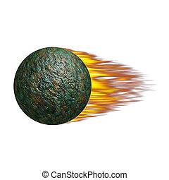 sphère, brûlé