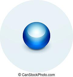 sphère, carte, indicateur, icône