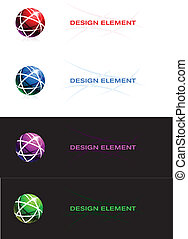 sphère, conception abstraite, element.